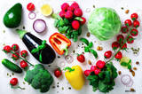 Set Fresh Vegetables On White 804262
